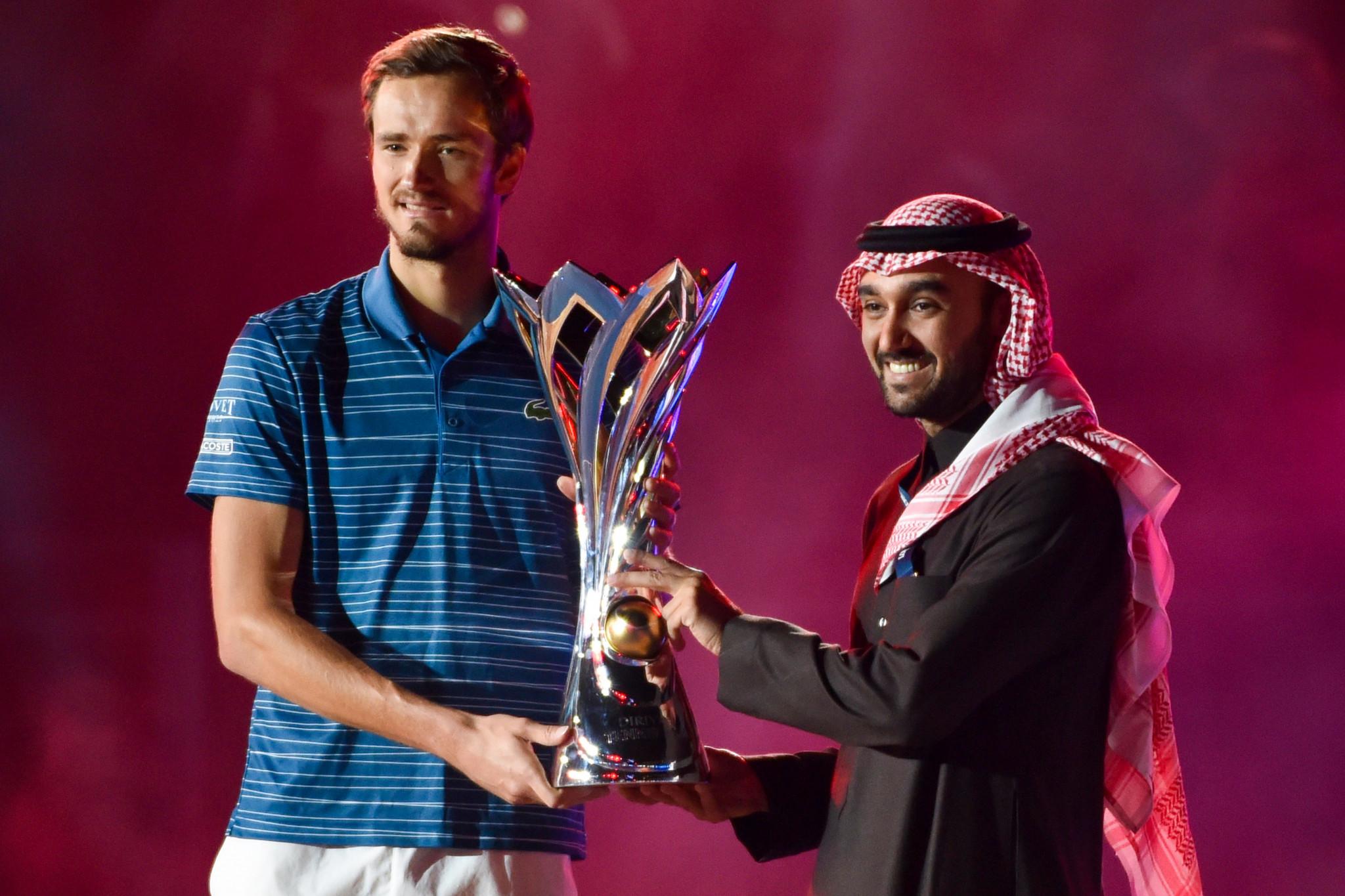 Russia's Daniil Medvedev won the inaugural Diriyah Tennis Cup ©Getty Images