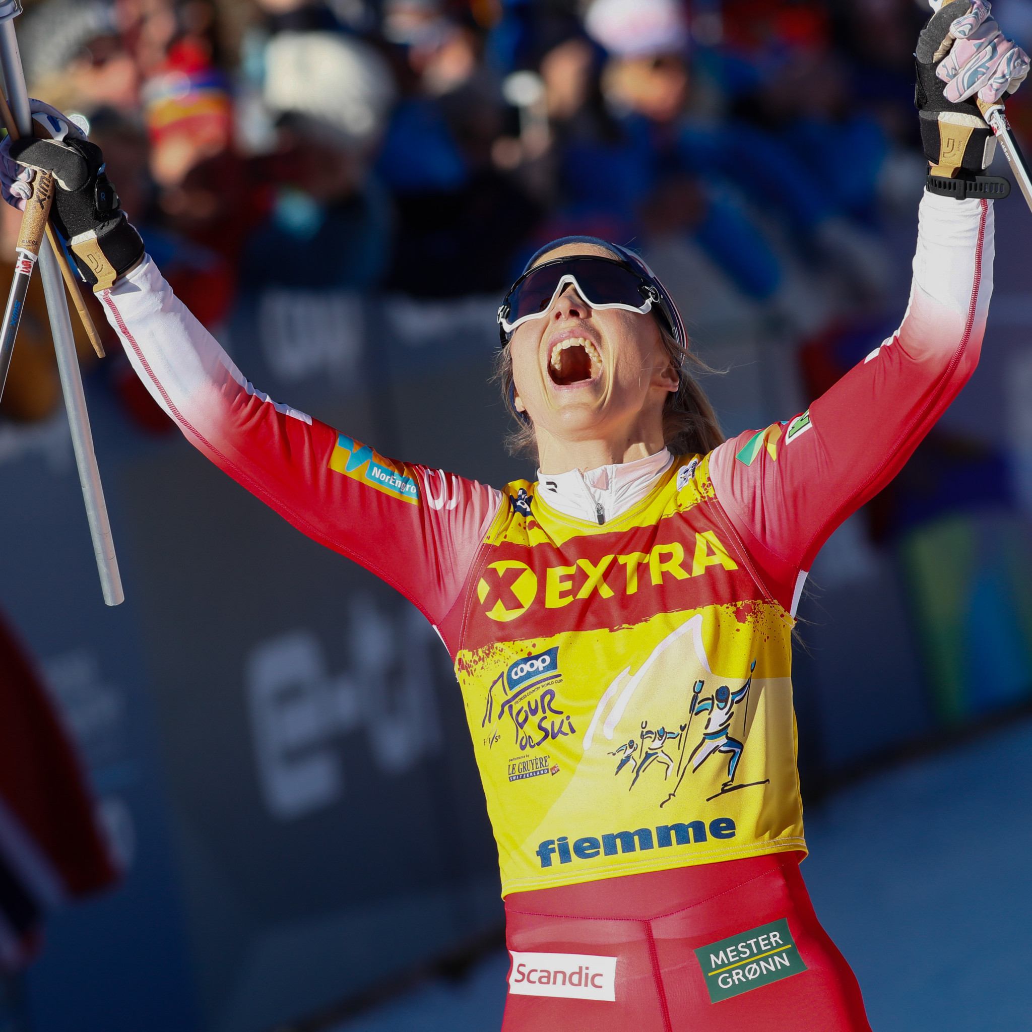 Therese Johaug maintained her fine form in the women's events ©Getty Images