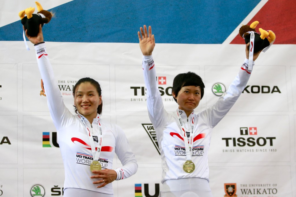Chinese and German team sprinters triumph again at UCI Track World Cup