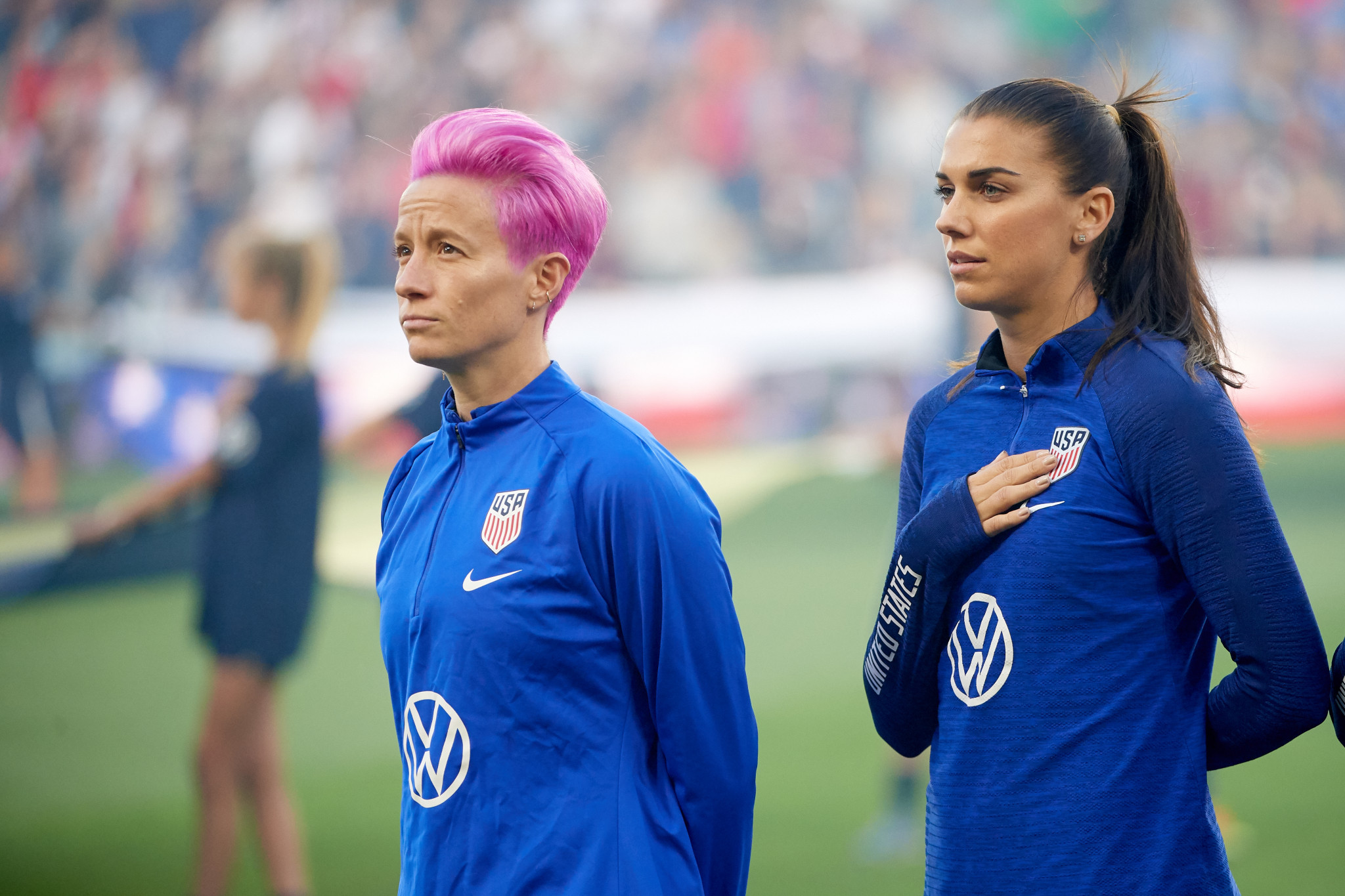 Megan Rapinoe has refused to sing the United States national anthem since 2016 ©Getty Images