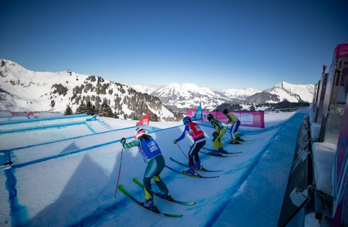 Perfect weather greeted the ski cross competitors in Villars ©Youth Olympic Games/Twitter