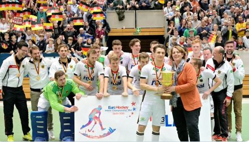 Hosts Germany beat world champions to earn Men's EuroHockey Indoor Nations title