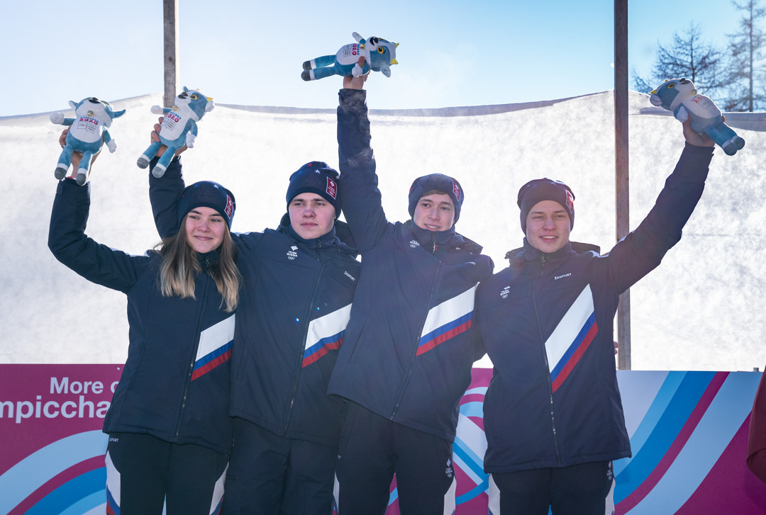 Russia win mixed relay on final day of luge at Lausanne 2020