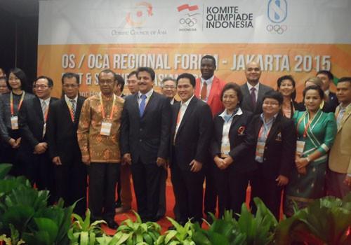 Erick Thohir attended the Regional Forum for the first time as KOI President ©OCA