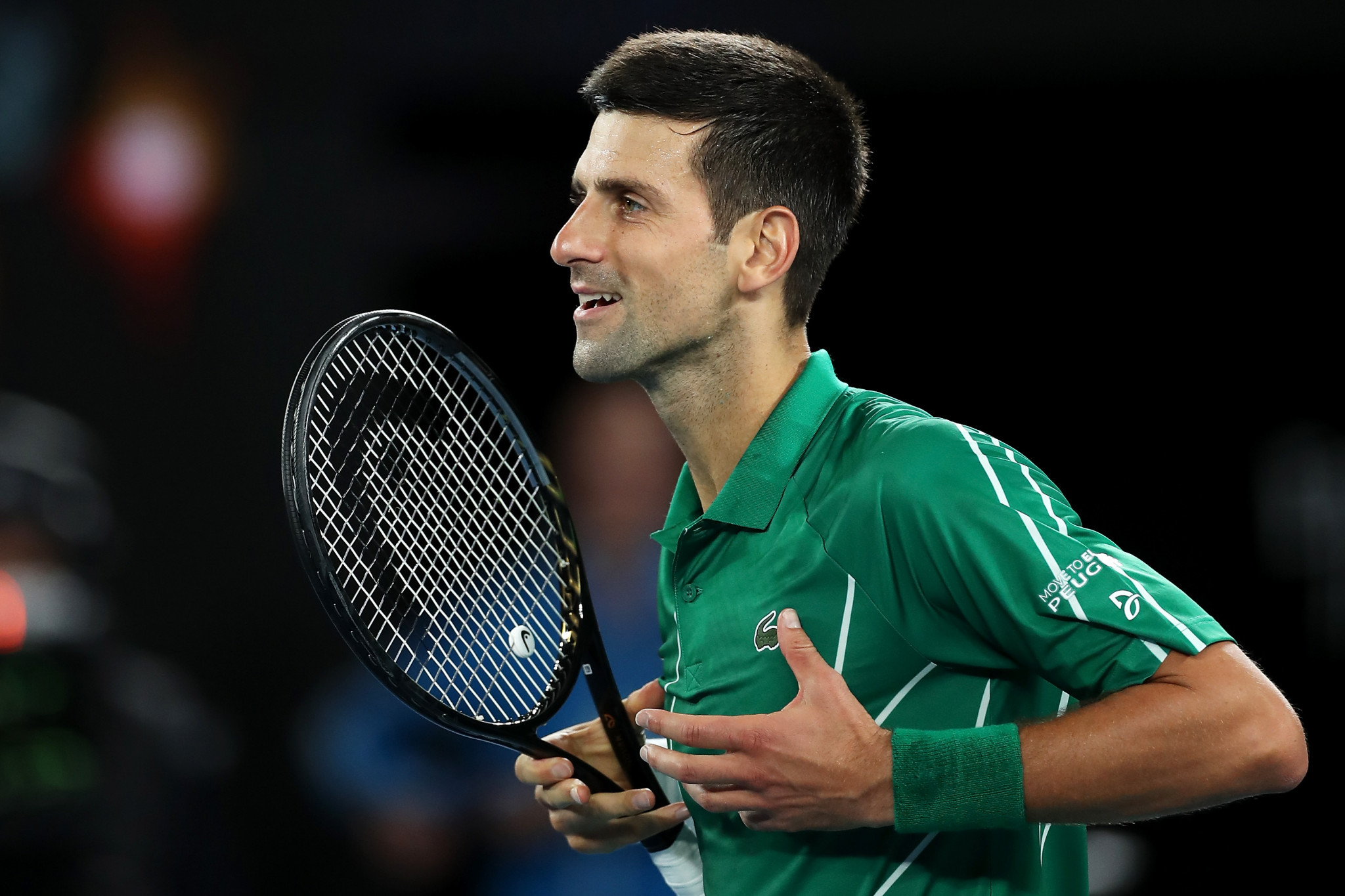 Novak Djokovic went through in four sets ©Getty Images