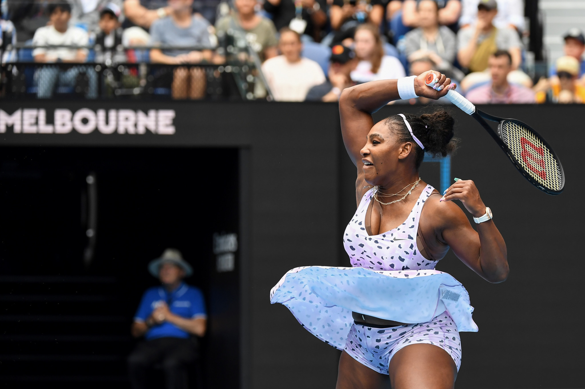 Serena Williams dropped just three games as she began her pursuit of a record-equalling 24th Grand Slam ©Getty Images