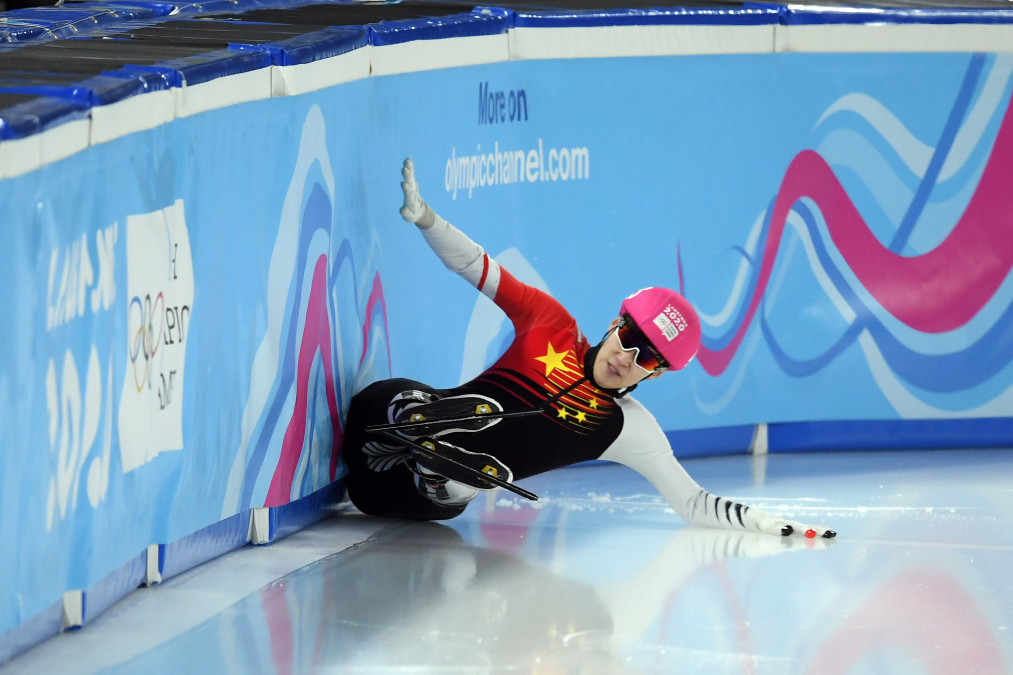 Drama continued on the ice as short track competition resumed ©Getty Images