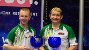 Harlow and Brett claim open pairs title at World Indoor Bowls Championships