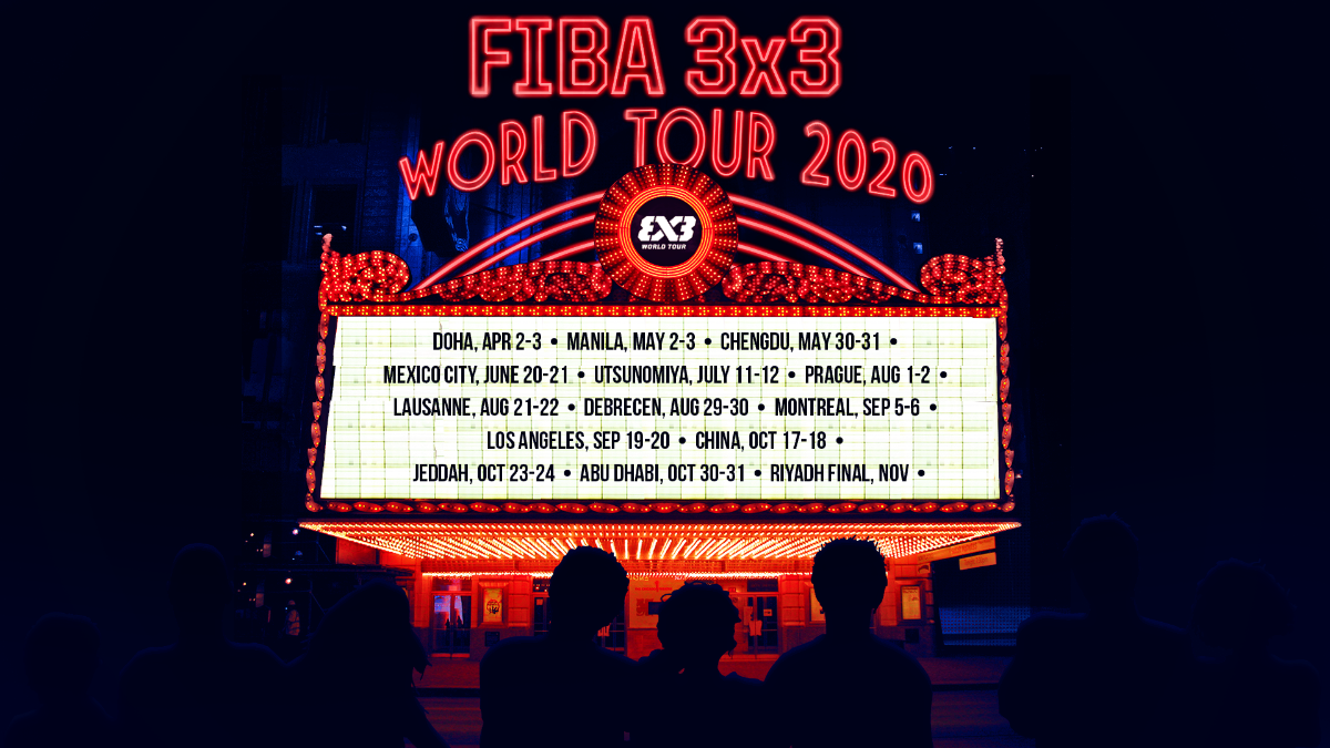 The 2020 World Tour features a record number of events ©FIBA