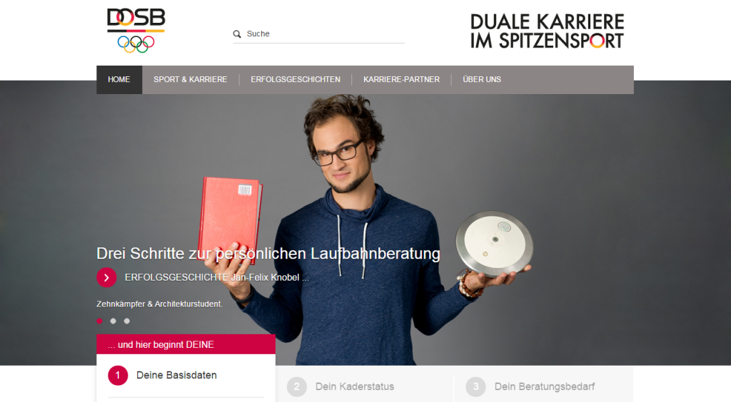 """DOSB launches new website for """"dual career"""" programme"""