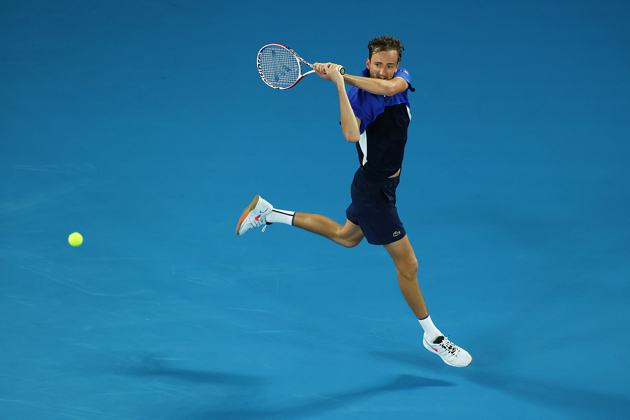 Russia's fourth seed Daniil Medvedev also made round two ©Getty Images