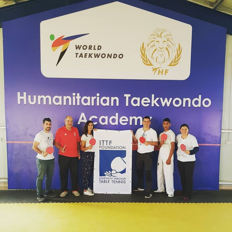 International Table Tennis Federation Foundation visit Taekwondo Humanitarian Foundation