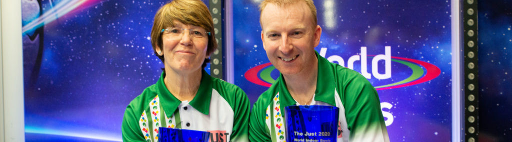 Brett and Purcell clinch mixed pairs crown at World Indoor Bowls Championships