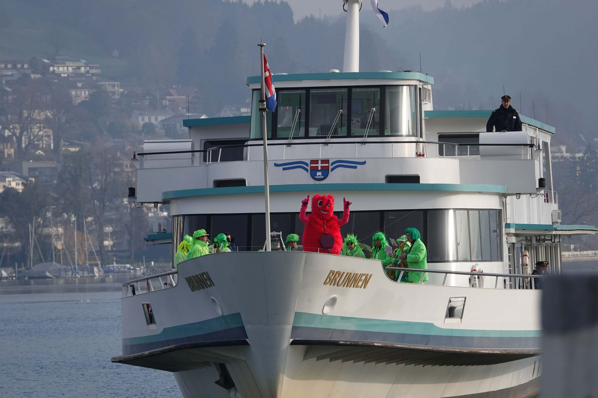 The mascot was revealed to mark one year to go until Lucerne 2021 ©Lucerne 2021