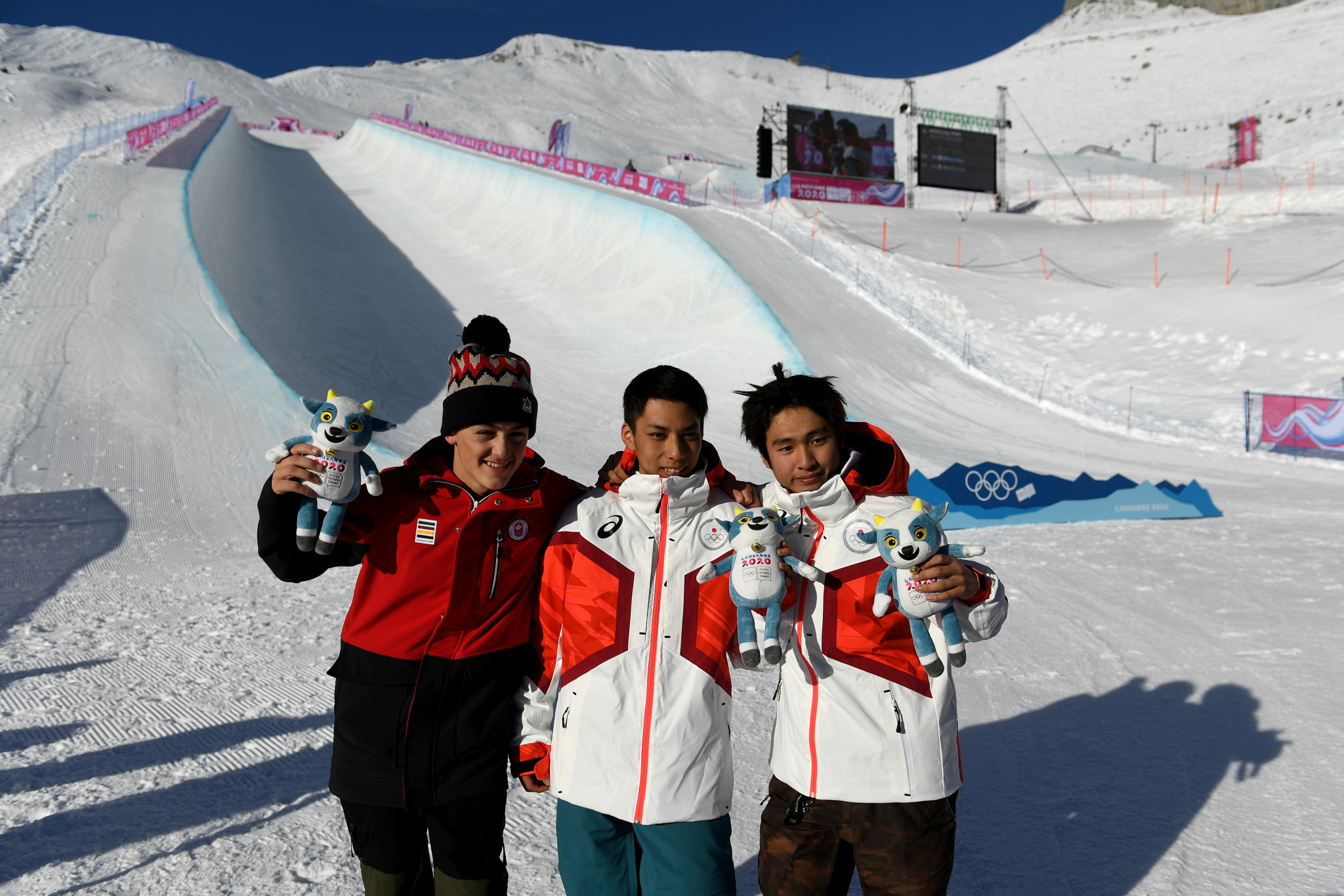 Japan celebrated a one-two in the snowboard halfpipe event for the second successive day ©Getty Images