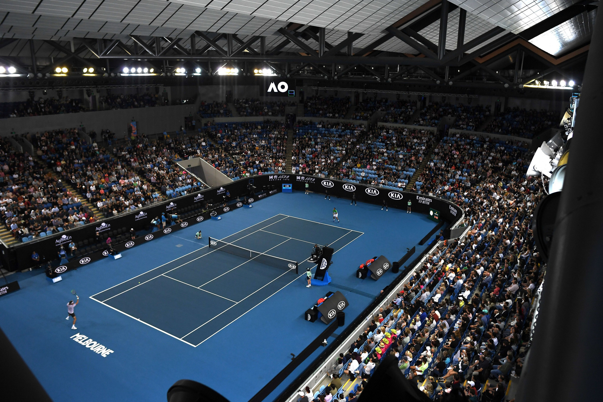 Margaret Court Arena, currently being used for the Australian Open, was due to hold the skateboarding event's semi-finals and finals ©Getty Images