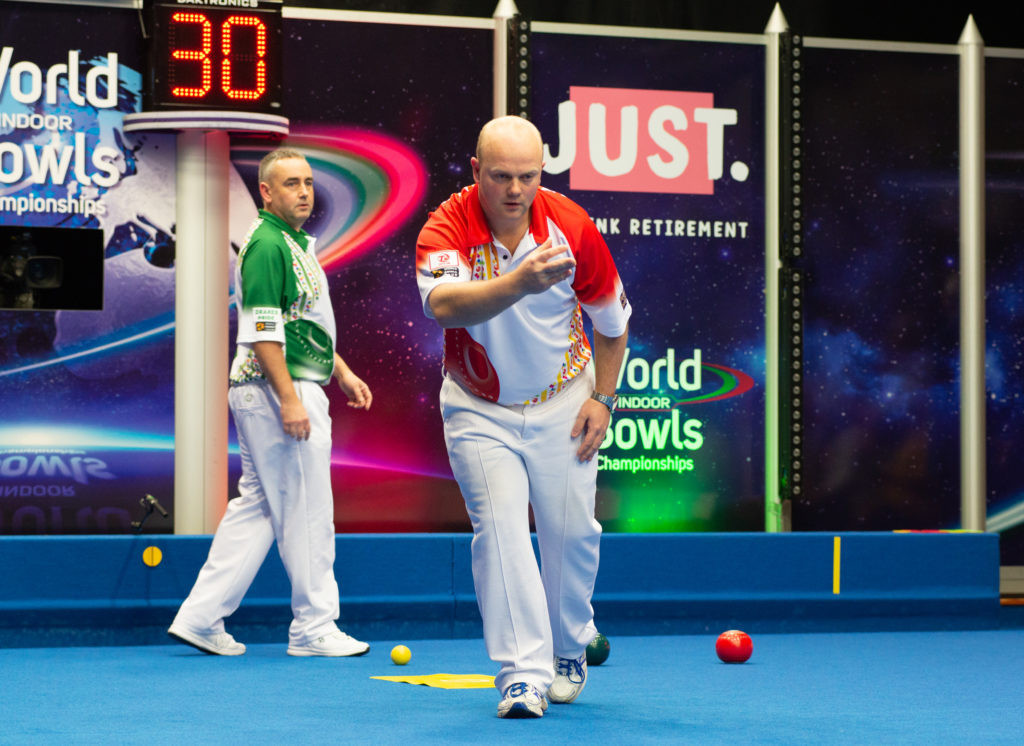 Scotland's Stewart Anderson has moved a step closer to the successful defence of his open singles title ©World Bowls Tour