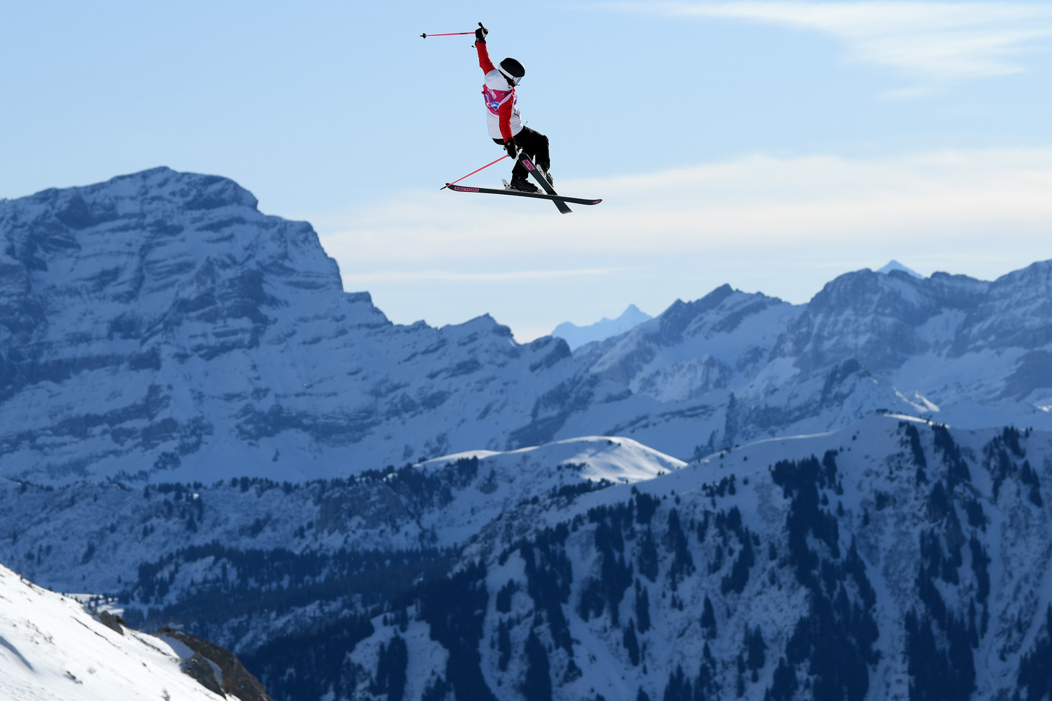 Eileen Gu of China lit up the freestyle big air event on her way to winning a second gold medal ©Getty Images