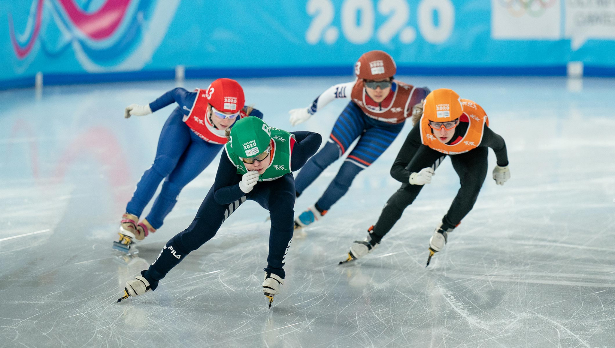 The mixed relay brought the short track speed skating programme at Lausanne 2020 to a close ©OIS