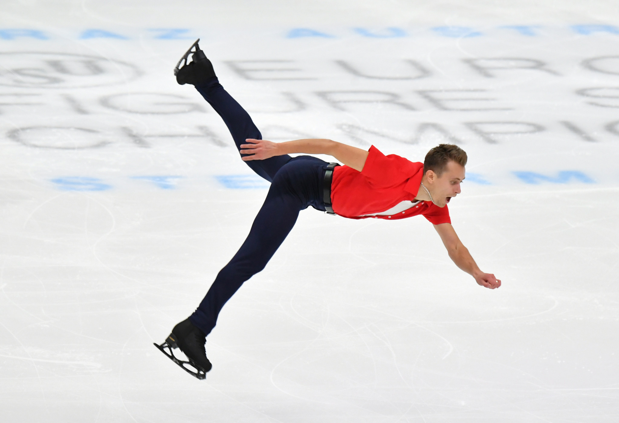 The Czech Republic's Michal Březina leads the men's singles at the ISU European Figure Skating Championships in Graz ©Getty Images
