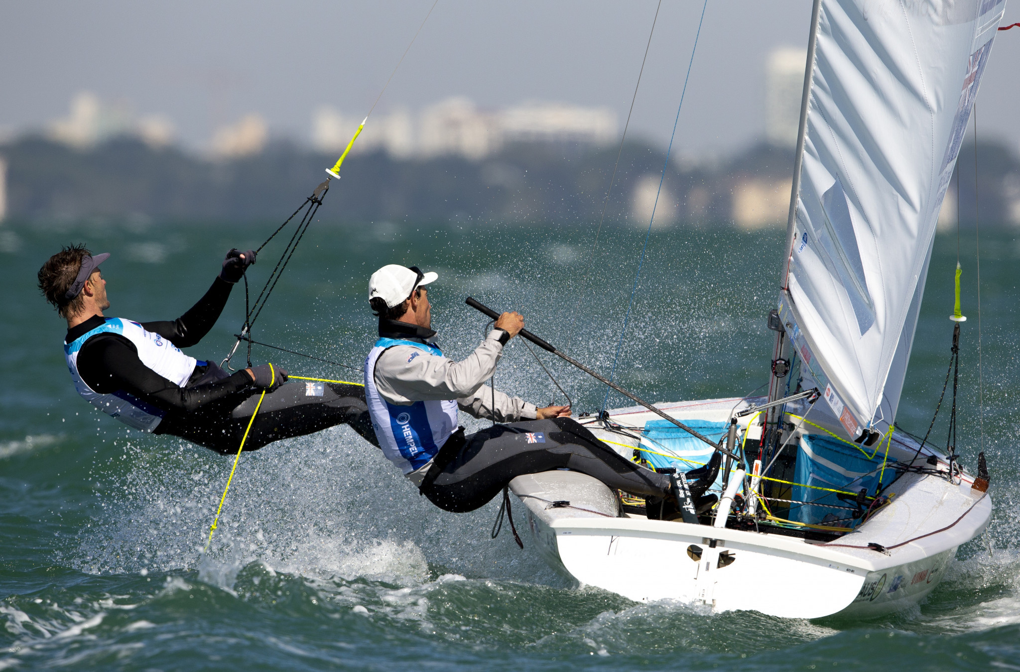 Olympic silver medallists move into men's 470 lead at Sailing World Cup in Miami