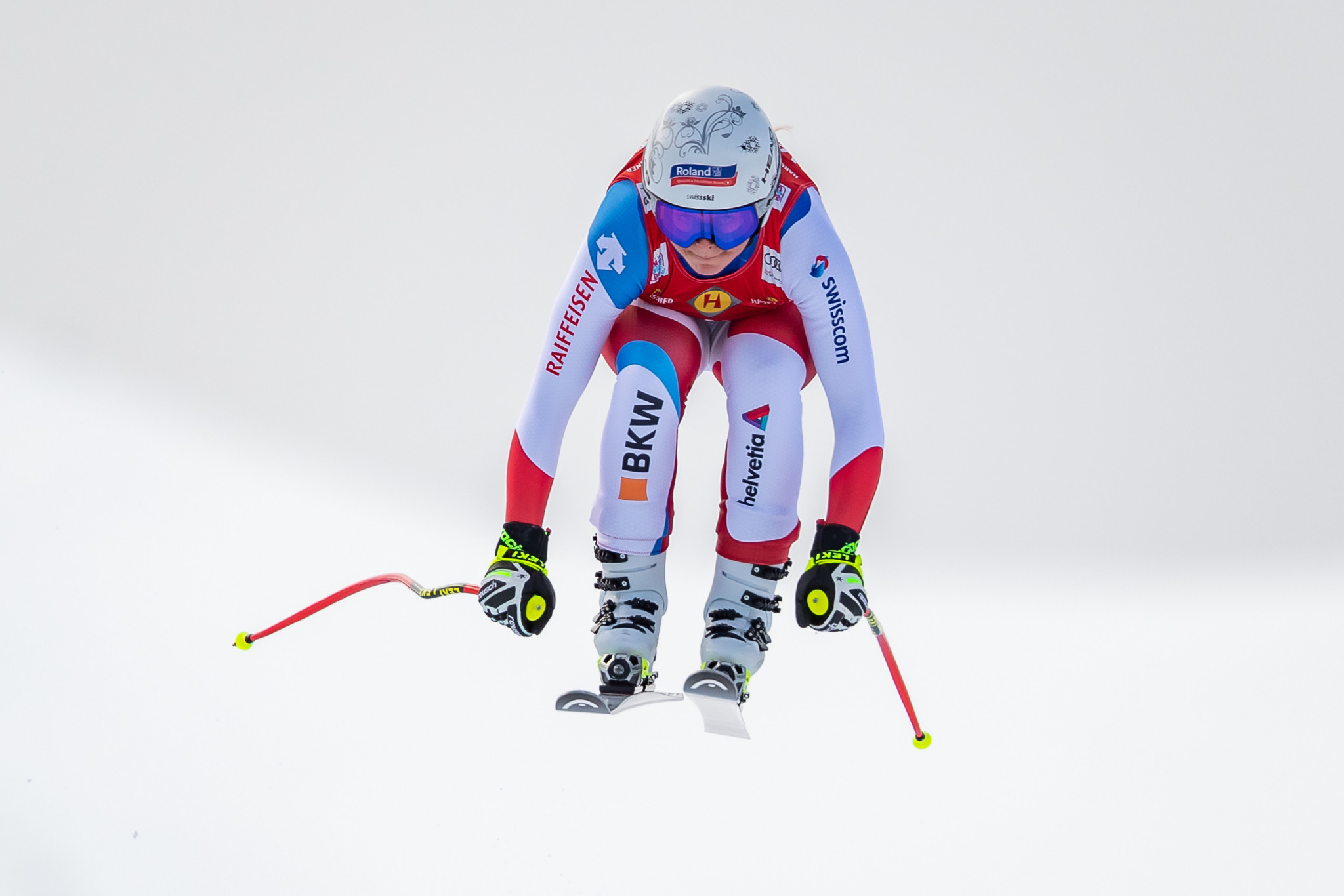 Corrine Suter on her way to victory in Alternmarkt, Austria, in the third leg of the World Cup downhill ©Getty Images