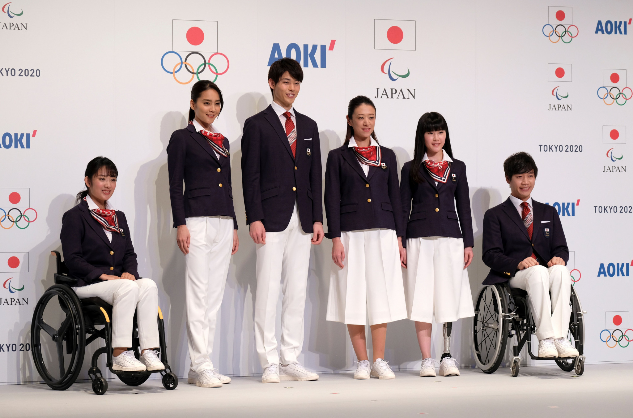 The second uniform will be used at formal events attended by the Japanese delegations ©Getty Images
