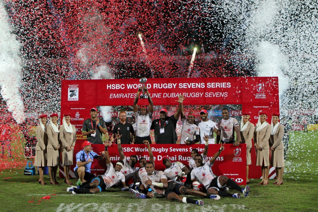 Fiji off to flyer with victory over England in final of World Rugby Sevens Series in Dubai