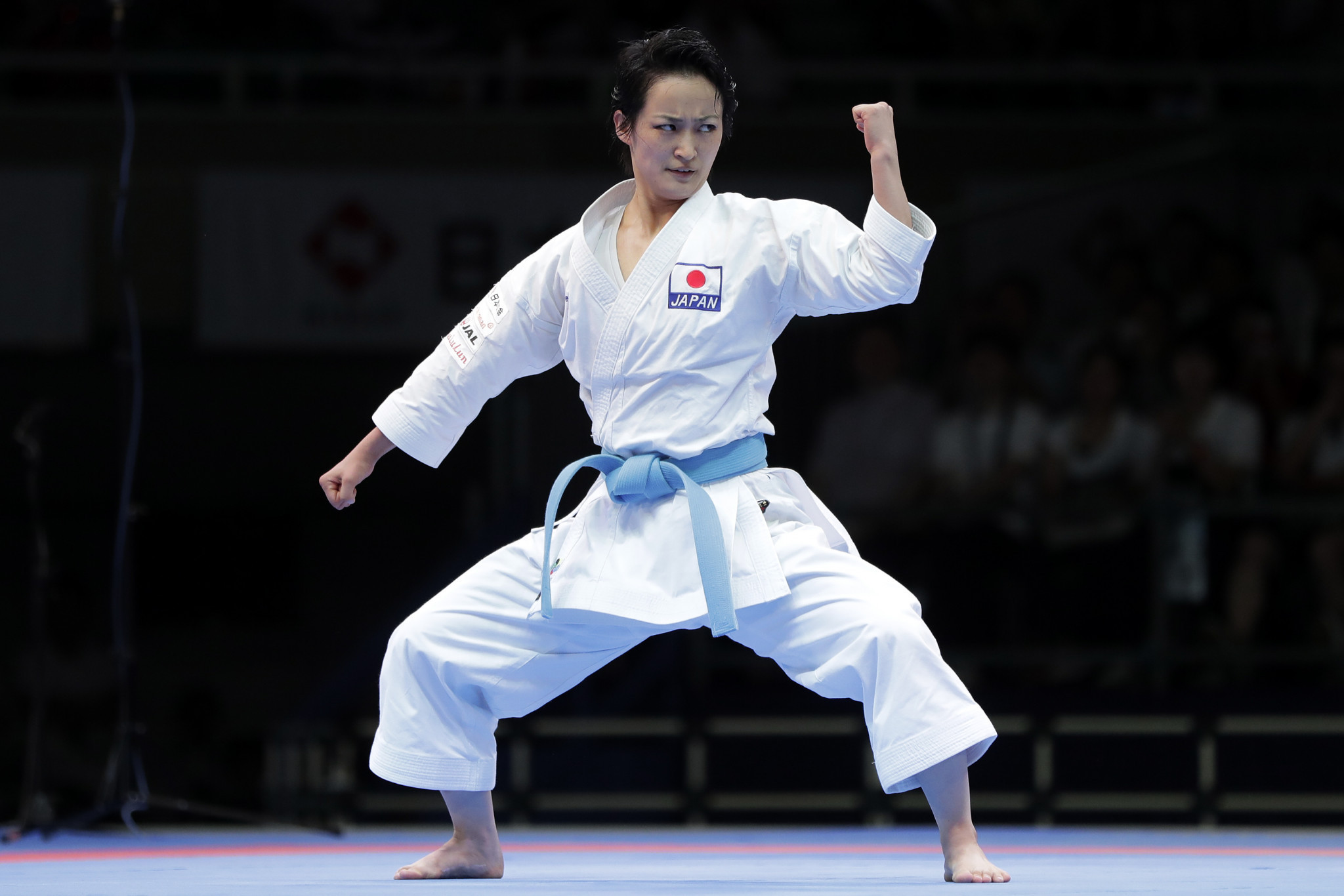 Last Septmeber, Japanese star Kiyou Shimizu claimed gold in the female kata at the Karate 1-Premier League in Tokyo ©Getty Images
