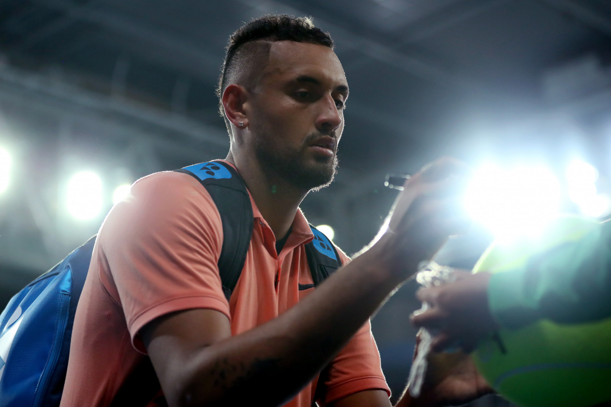 Kyrgios mimics rival Nadal en-route to Australian Open third round