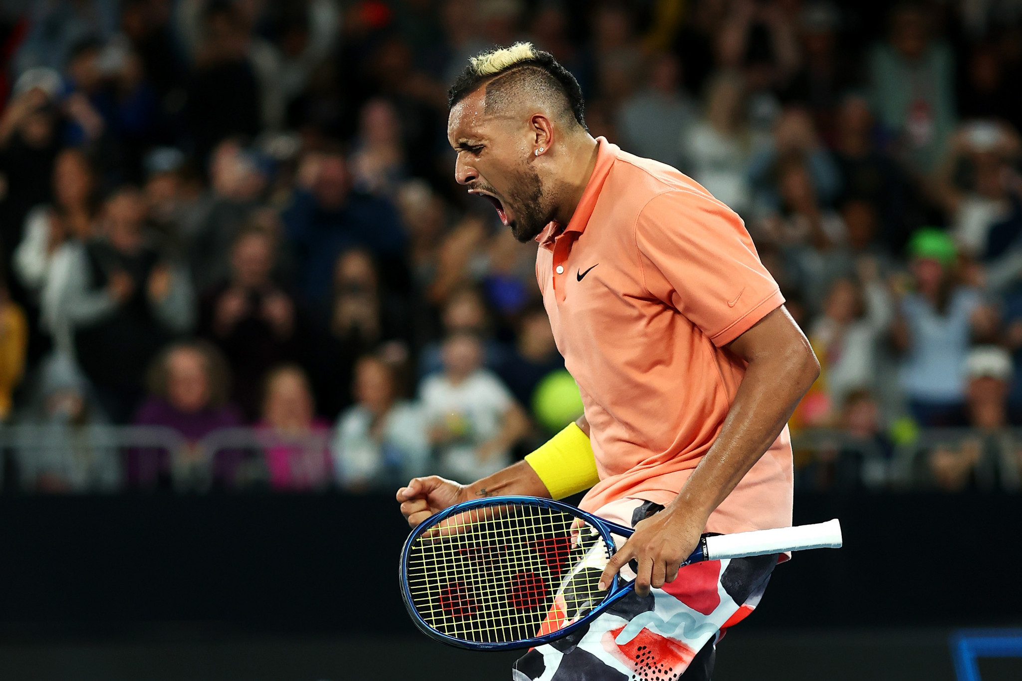 Australia's Nick Kyrgios went through after mimicking Rafael Nadal ©Getty Images