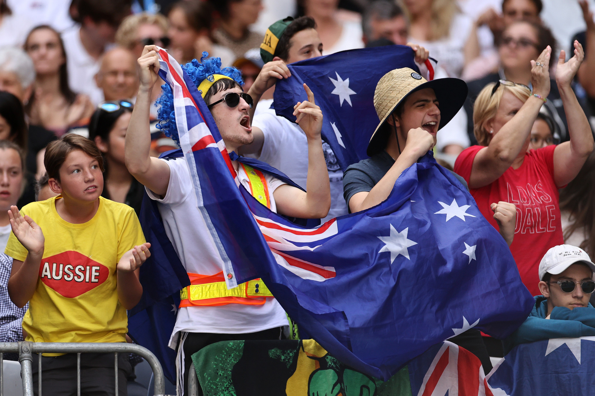 Home fans cheer on Australian wildcard Alex Bolt, who took fifth seed Dominic Thiem to five sets before defeat ©Getty Images