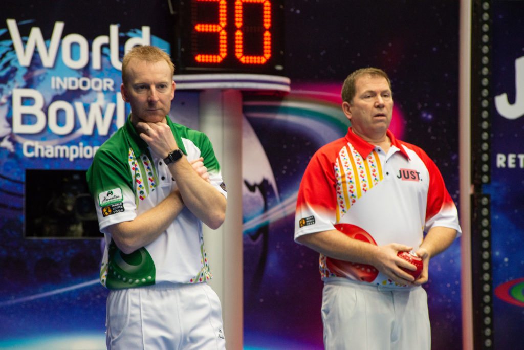England's Nick Brett beat compatriot Mervyn King in the last-16 of the open singles event ©World Bowls Tour