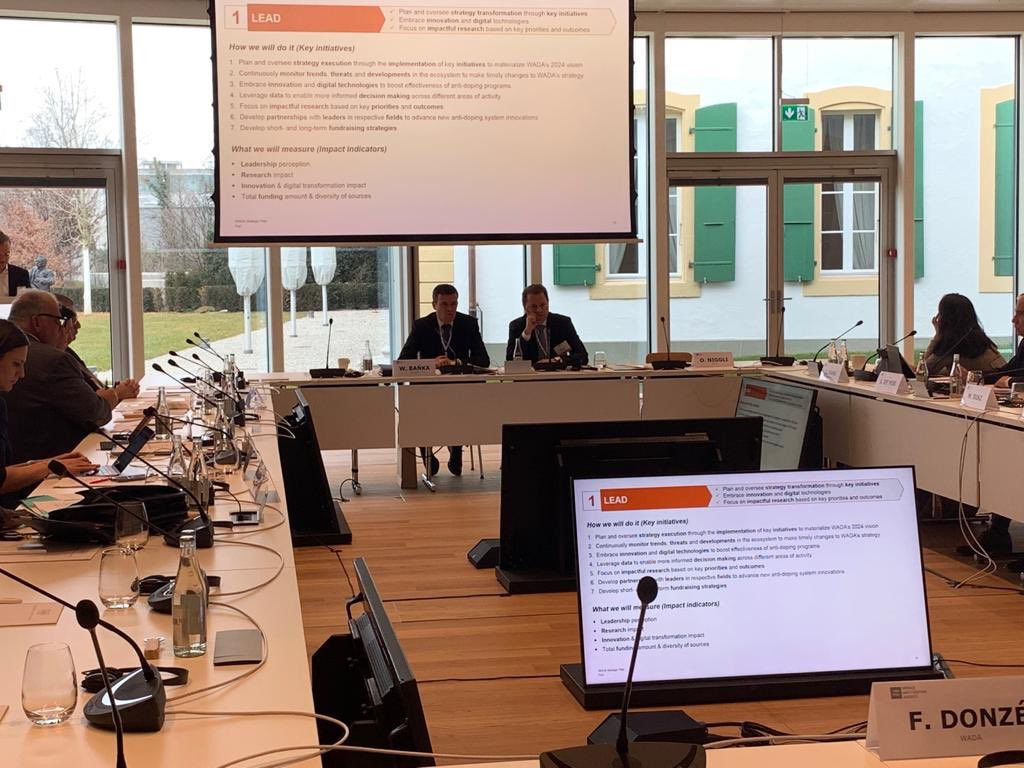 The meeting was the first to be chaired by new WADA President Witold Bańka ©Twitter