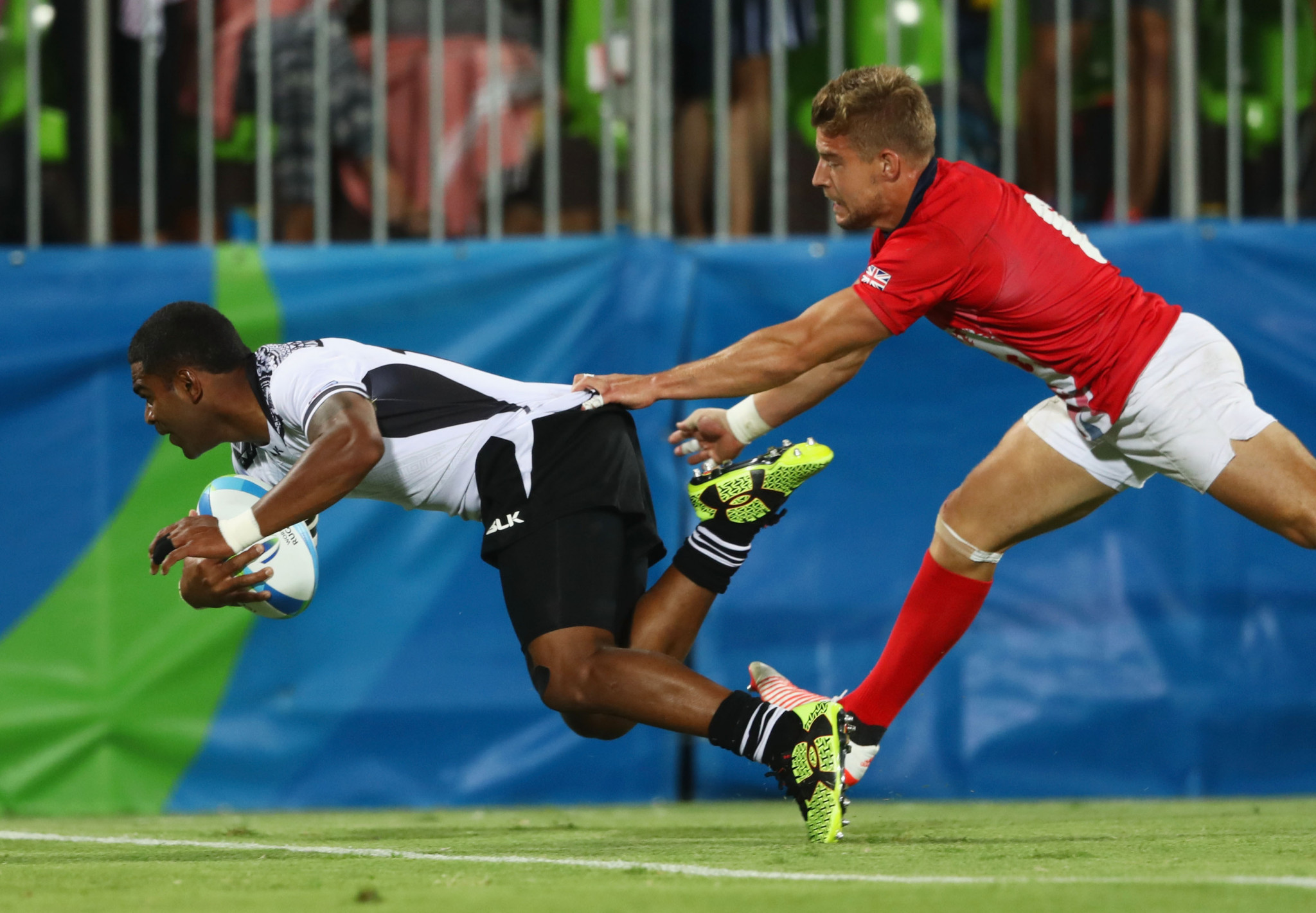 The introduction of rugby sevens onto the Olympic programme at Rio 2016, which saw Fiji winning the men's gold medal, was picked as a highlight of his first four-year term by Sir Bill Beaumont ©Getty Images