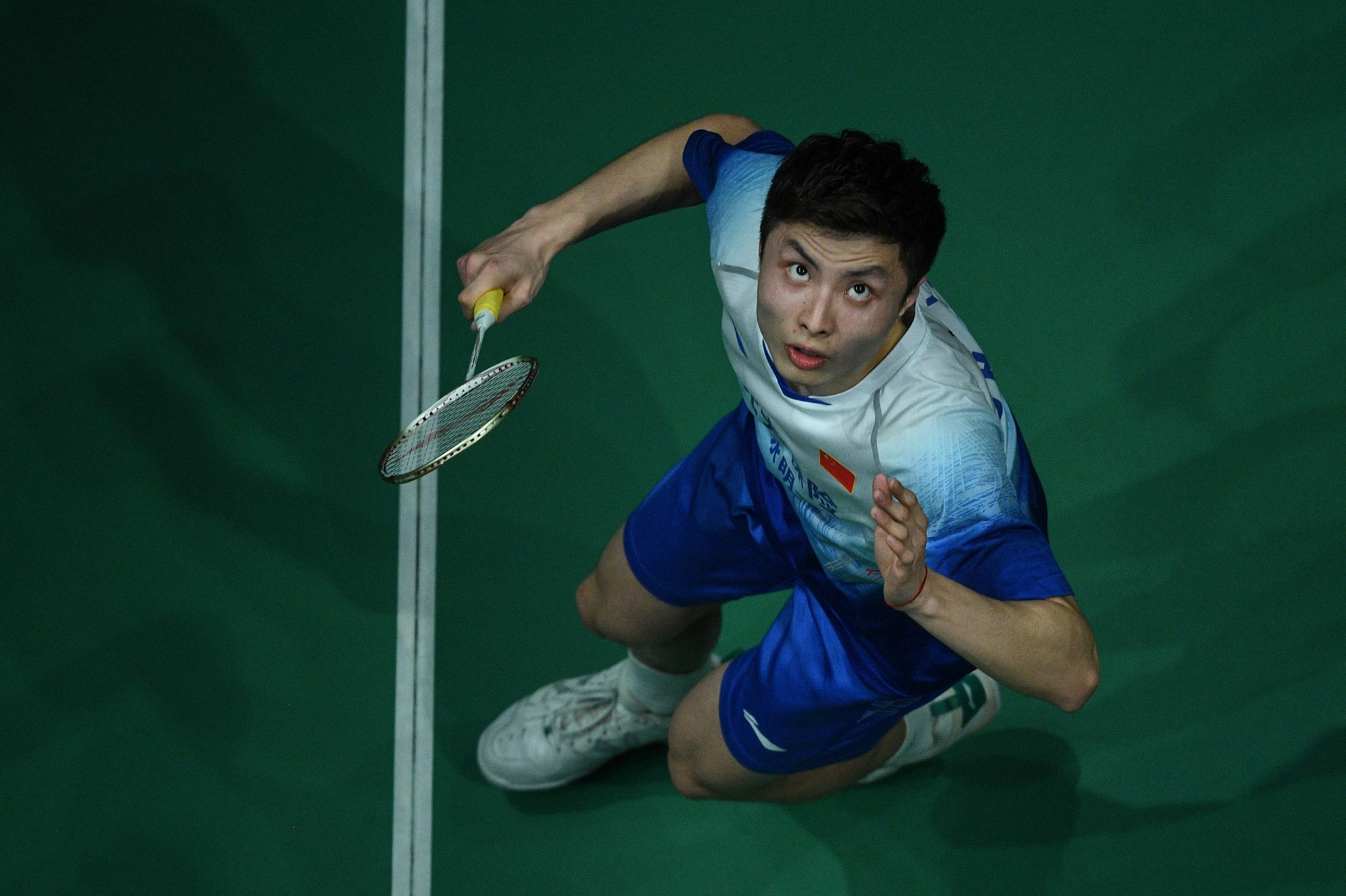 Second seed Shi Yuqi of China remains on course to win the men's singles title ©Getty Images