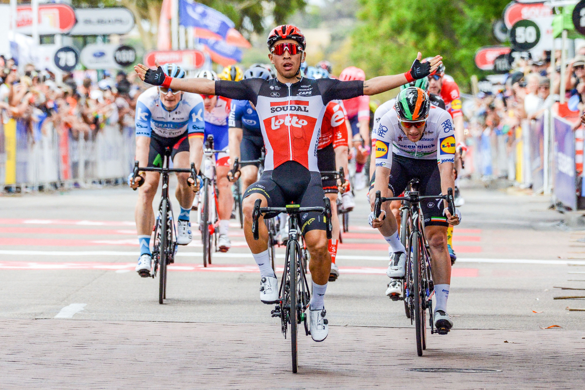 Ewan wins Tour Down Under stage four, but Porte retains overall lead