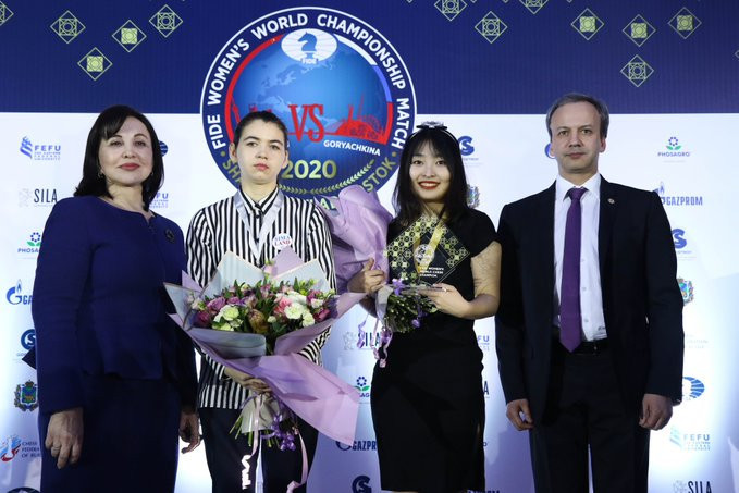Ju Wenjun's victory saw her earn the highest amount of prize money ever awarded in women's chess ©Twitter/Eteri Kublashvili