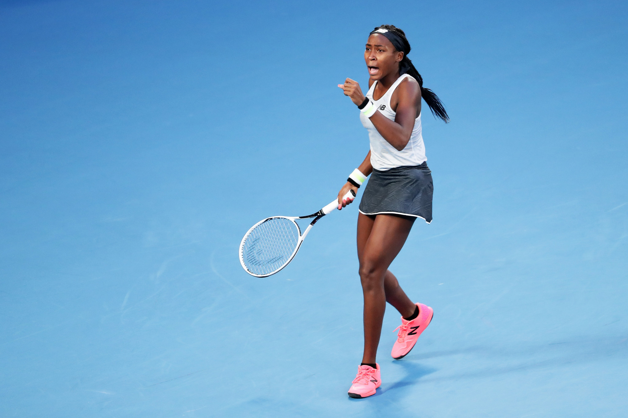 The 15-year-old Gauff was the victor, triumphing 6-3, 6-4 ©Getty Images