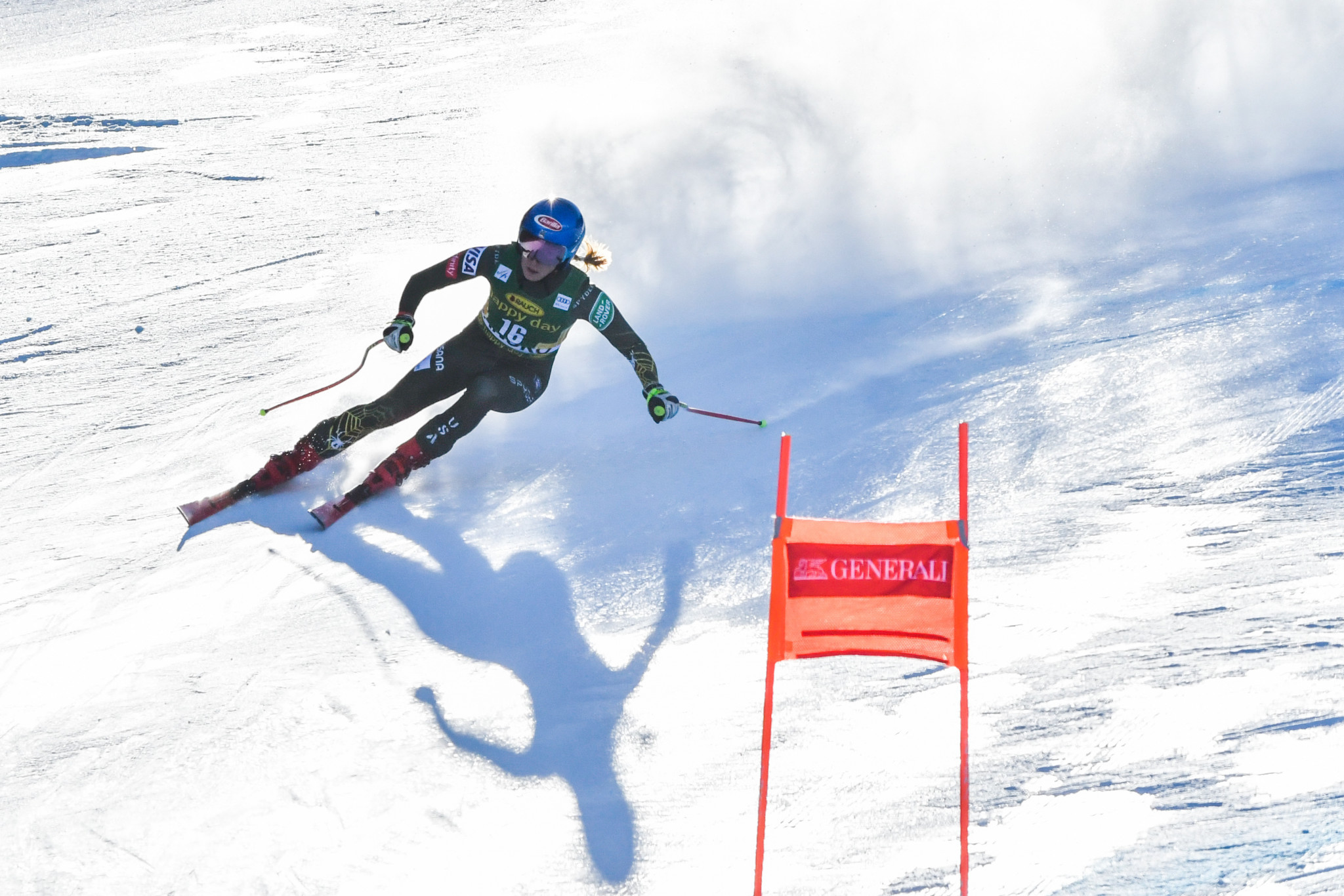 Mikaela Shiffrin of the United States earned only the second downhill World Cup victory of her career ©Getty Images