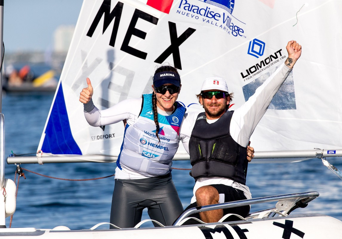 Mexico's Elena Oetling qualified for the Tokyo 2020 laser radial competition at the Sailing World Cup in Miami ©World Sailing