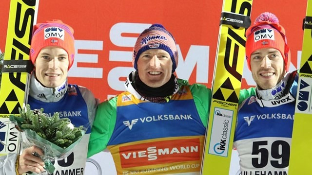Ski jumping World Cup champion Freund wins weather-affected event in Lillehammer