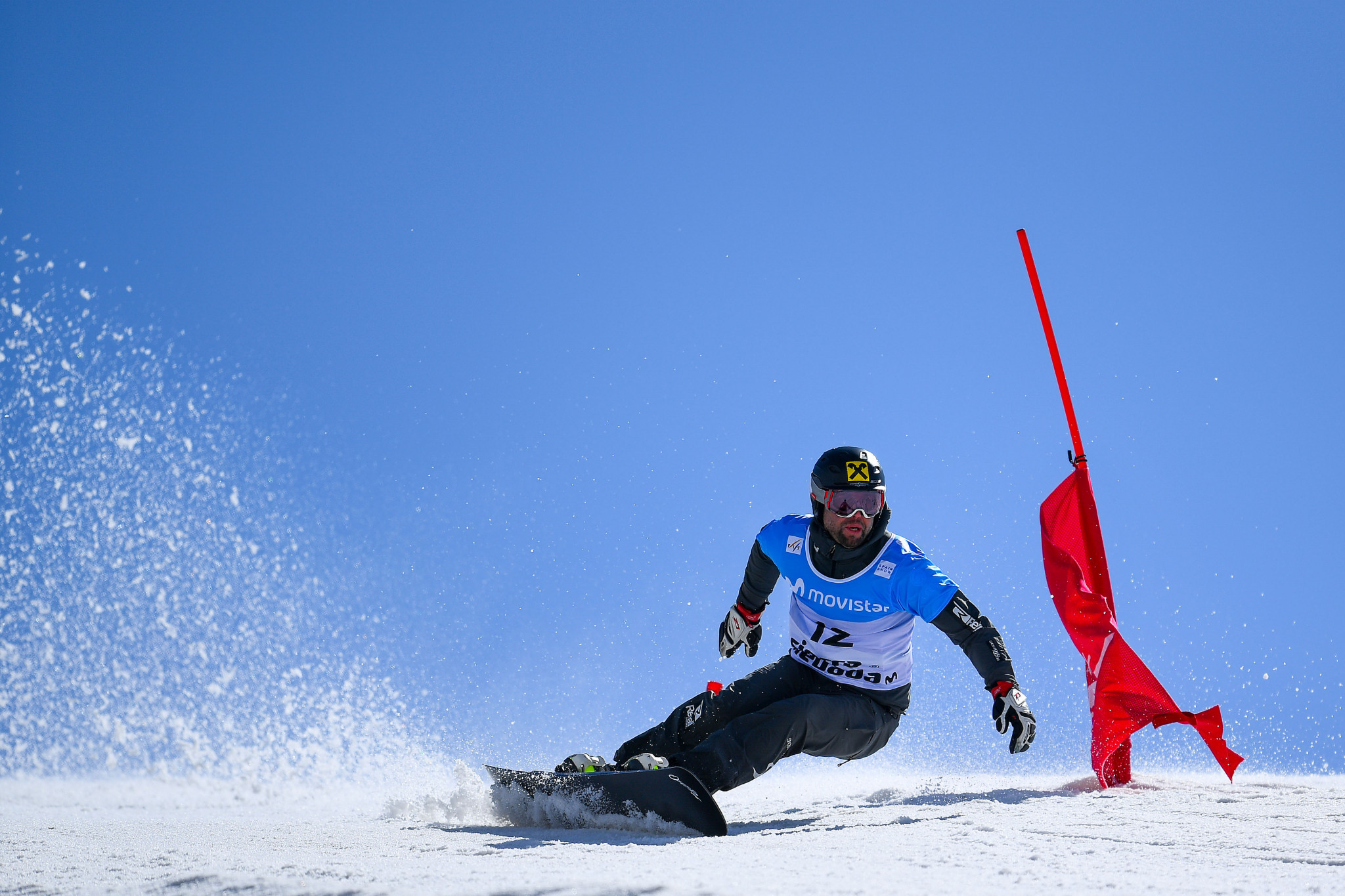 Prommegger on top at FIS Alpine Snowboard World Cup in Piancavallo