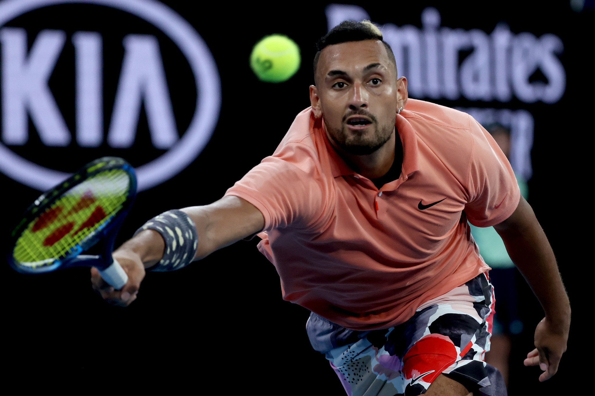 Home favourite Nick Kyrgios battled into the fourth round of the Australian Open ©Getty Images