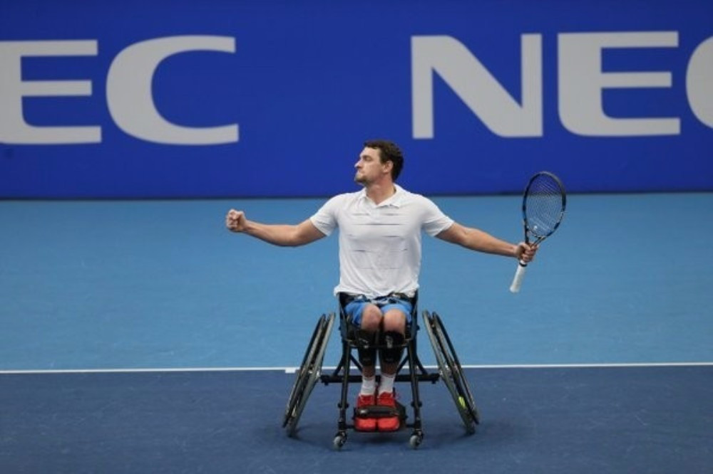 Gerard to face defending champion Kunieda in men's singles final at NEC Wheelchair Tennis Masters