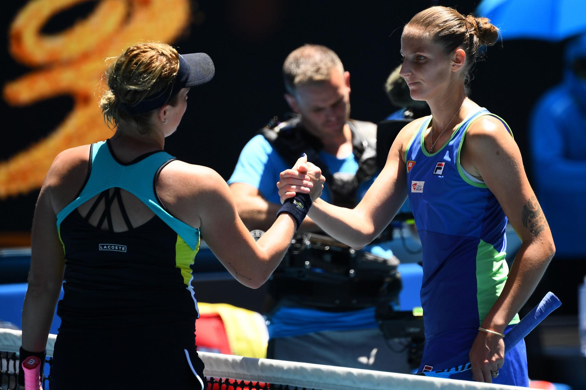 She was beaten by Anastasia Pavlyuchenkova of Russia 7-6, 7-6 ©Getty Images