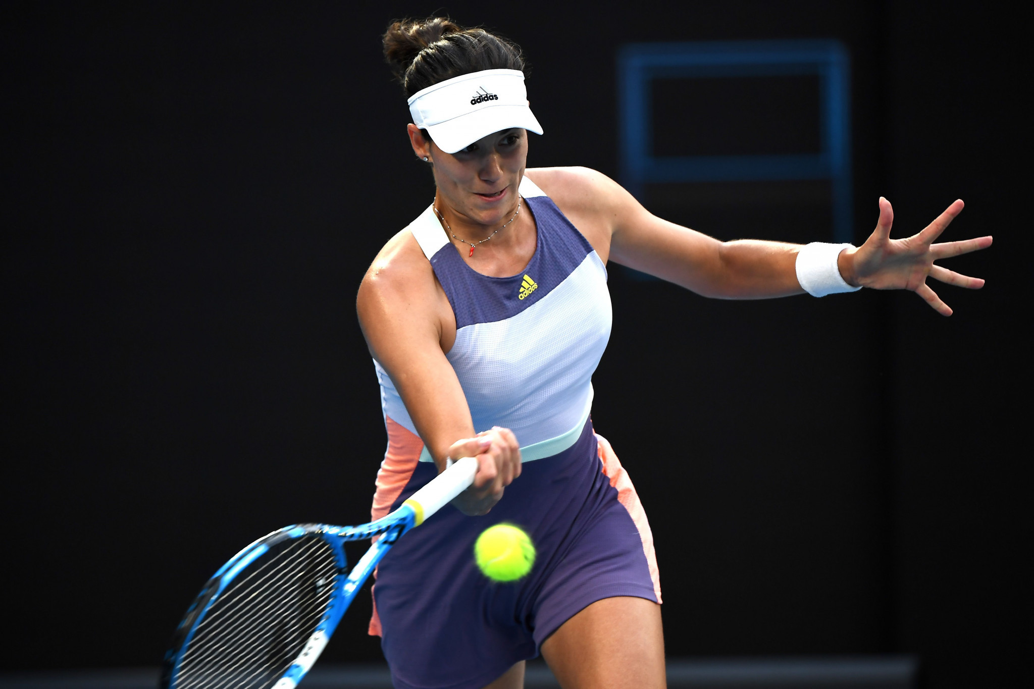 She was comfortably beaten by Garbiñe Muguruza of Spain 6-1, 6-2 ©Getty Images