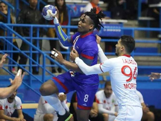 Cape Verde won by nine points in the playoff ©Tunisian Handball Federation