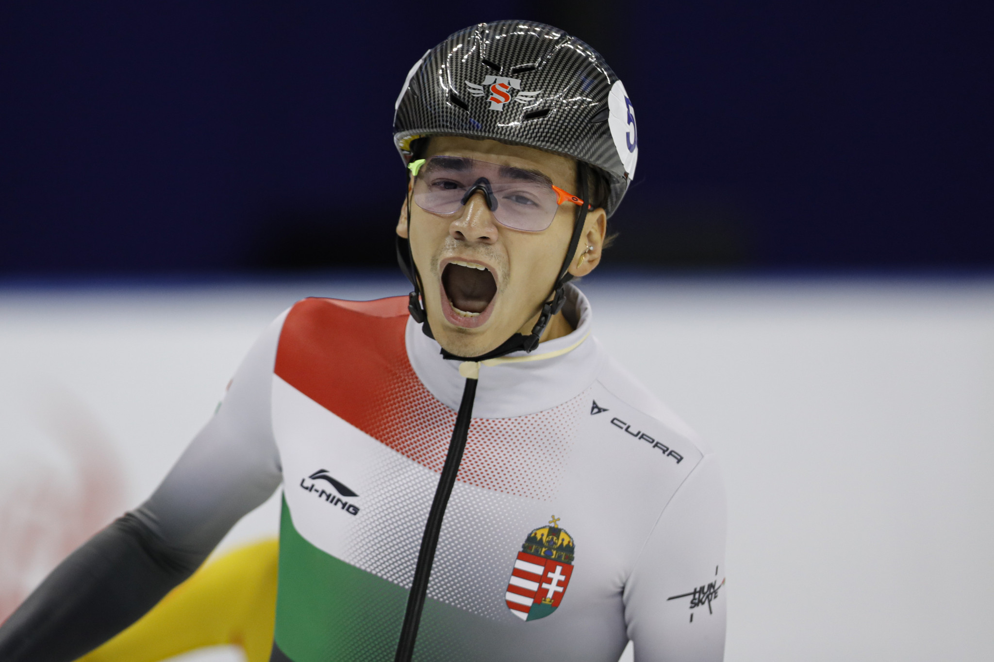 Shaolin Sándor Liu won 500m gold at the ISU Short Track European Championships ©Getty Images