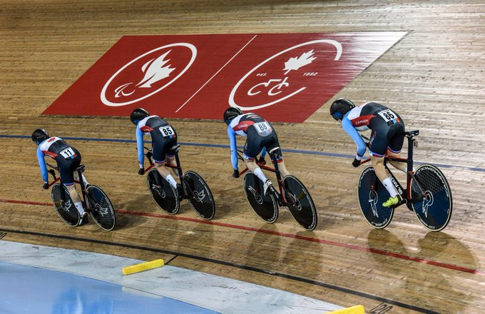 There was fierce action on the opening day of the UCI World Cup in Milton ©Cycling Canada
